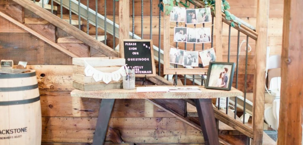 Wedding Guestbook Signing Table