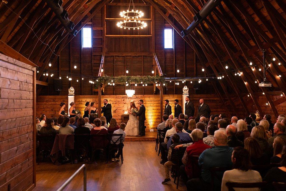 Canton Barn interior - wedding