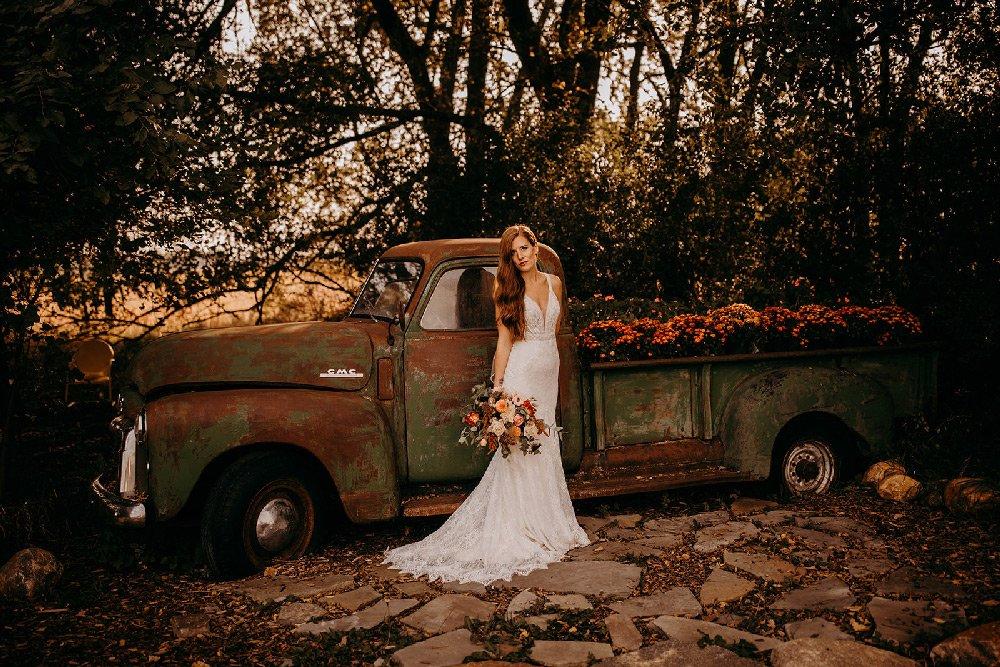 Canton Barn truck-bride