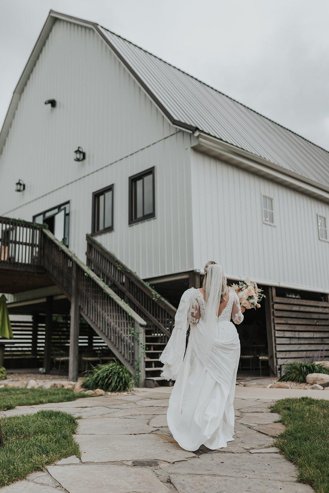 bride at canton barn
